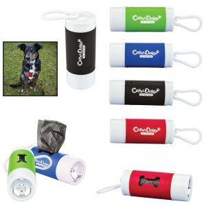 Pet waste bag dispenser with flashlight PT103