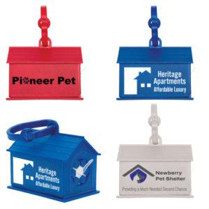 Dog house shaped waste bag holder Item 336